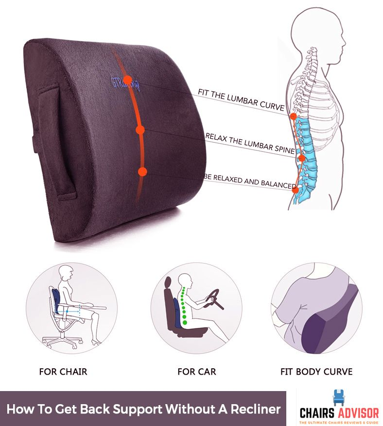 How To Get Back Support Without A Recliner