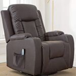 Homall Manual Recliner Chair Modern Brown Chaise Couch