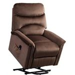Beaumont Warm Brown Paisley Recliner chair