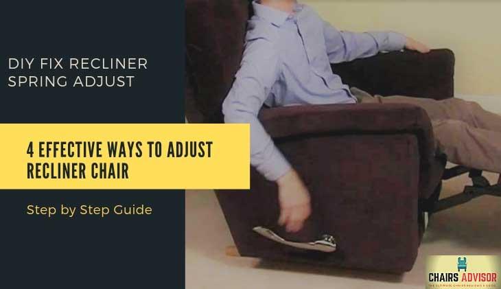 Amazing 4 Best Ways To Adjust Recliner Chair Chairs Advisor Inzonedesignstudio Interior Chair Design Inzonedesignstudiocom