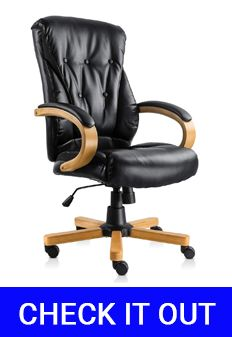 NKV High Back Traditional Executive Office Desk Chair
