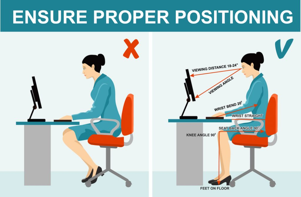 Sitting position Correctly