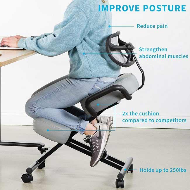 Dragon Ergonomic Kneeling Chair: Best for Back Support