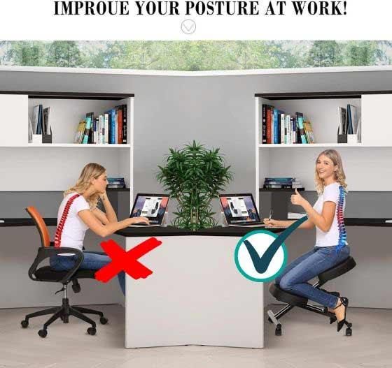 Papafix Ergonomic Kneeling Chair: Best for Back Pain Sufferer