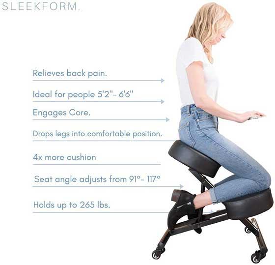 Sleekform Ergonomic Kneeling Posture Chair: Best for Home Office