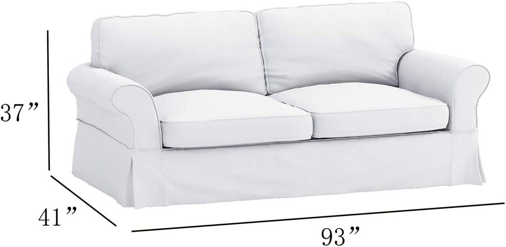 Pottery Barn arm Sofa size